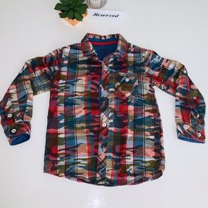 Boys EPIC THREADS Camouflage button COOL CAMO!